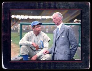 Picture of Helmar Brewing Baseball Card of Jimmie FOXX, card number 80 from series Helmar Imperial Cabinet
