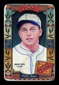 Picture of Helmar Brewing Baseball Card of Jimmie FOXX, card number 123 from series Helmar Oasis