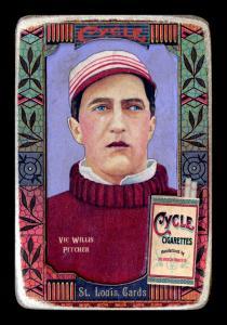 Picture of Helmar Brewing Baseball Card of Vic WILLIS (HOF), card number 150 from series Helmar Oasis