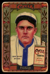 Picture, Helmar Brewing, Helmar Oasis Card # 207, Babe Adams, Green stripe background, Pittsburgh Pirates