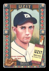 Picture of Helmar Brewing Baseball Card of Charlie GEHRINGER, card number 335 from series Helmar Oasis