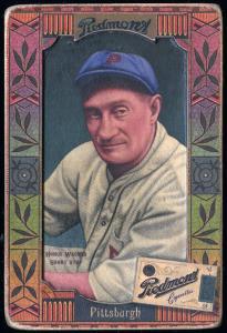Picture, Helmar Brewing, Helmar Oasis Card # 53, Honus WAGNER (HOF), Forearm showing, Pittsburgh Pirates