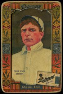 Picture of Helmar Brewing Baseball Card of Frank Owen, card number 63 from series Helmar Oasis