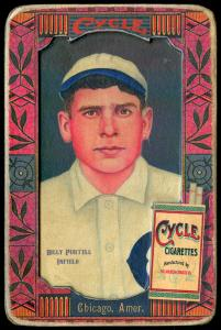 Picture of Helmar Brewing Baseball Card of Billy Purtell, card number 64 from series Helmar Oasis