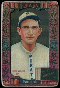 Picture of Helmar Brewing Baseball Card of Chief Wilson, card number 75 from series Helmar Oasis