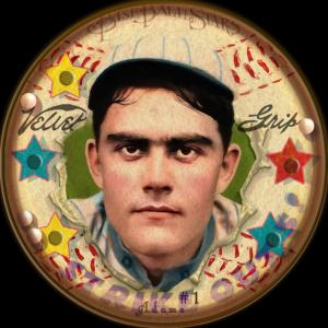 Picture of Helmar Brewing Baseball Card of Babe Adams, card number 1 from series Helmar Baseball Heads Score 5!