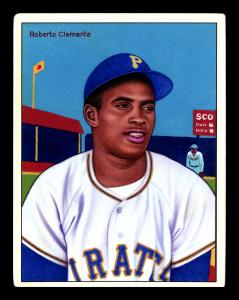 Picture of Helmar Brewing Baseball Card of Roberto CLEMENTE, card number 20 from series Helmar This Great Game