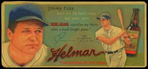 Picture of Helmar Brewing Baseball Card of Jimmie FOXX, card number 11 from series Helmar Trolley Card Series