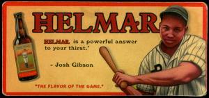 Picture of Helmar Brewing Baseball Card of Josh GIBSON (HOF), card number 13 from series Helmar Trolley Card Series