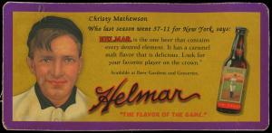 Picture of Helmar Brewing Baseball Card of Christy MATHEWSON (HOF), card number 23 from series Helmar Trolley Card Series