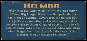 Picture, Helmar Brewing, Helmar Trolley Card Card # 30, Honus WAGNER (HOF), Portrait, Pittsburgh Pirates