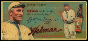 Picture of Helmar Brewing Baseball Card of Honus WAGNER (HOF), card number 30 from series Helmar Trolley Card Series