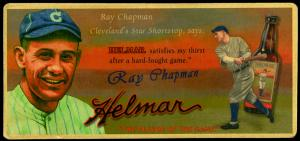 Picture of Helmar Brewing Baseball Card of Ray Chapman, card number 5 from series Helmar Trolley Card Series