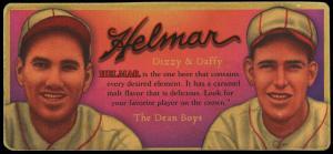 Picture of Helmar Brewing Baseball Card of Daffy Dean, card number 7 from series Helmar Trolley Card Series
