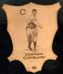 Picture of Helmar Brewing Baseball Card of Ray Chapman, card number 26 from series L1 Helmar Leather Cabinet