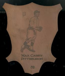 Picture of Helmar Brewing Baseball Card of Max CAREY, card number 32 from series L1 Helmar Leather Cabinet