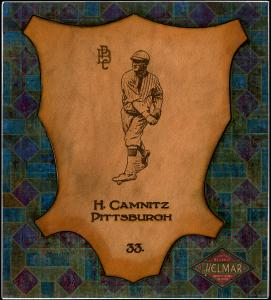 Picture of Helmar Brewing Baseball Card of Howie Camnitz, card number 33 from series L1 Helmar Leather Cabinet