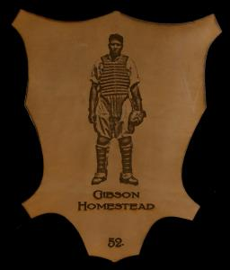 Picture of Helmar Brewing Baseball Card of Josh GIBSON (HOF), card number 52 from series L1 Helmar Leather Cabinet