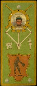 Picture of Helmar Brewing Baseball Card of George Gibson, card number 117 from series L3-Helmar Cabinet