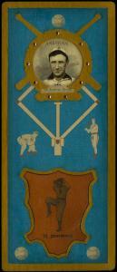 Picture of Helmar Brewing Baseball Card of Hughie JENNINGS (HOF), card number 134 from series L3-Helmar Cabinet