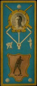 Picture of Helmar Brewing Baseball Card of Vic WILLIS (HOF), card number 14 from series L3-Helmar Cabinet