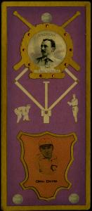 Picture of Helmar Brewing Baseball Card of George DAVIS (HOF), card number 3 from series L3-Helmar Cabinet