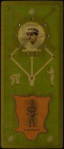 Picture of Helmar Brewing Baseball Card of Charles Comiskey (HOF), card number 67 from series L3-Helmar Cabinet