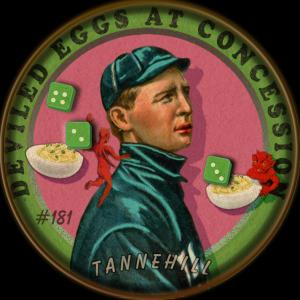 Picture of Helmar Brewing Baseball Card of Lee Tannehill, card number 181 from series Helmar Our Guy