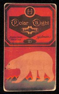 Picture, Helmar Brewing, Helmar Polar Night Card # 115, Honus WAGNER (HOF), Kneeling with bat, front view, Pittsburgh Pirates