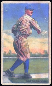 Picture of Helmar Brewing Baseball Card of Ray Chapman, card number 117 from series Helmar Polar Night