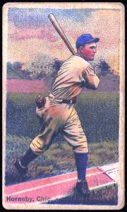 Picture of Helmar Brewing Baseball Card of Rogers HORNSBY (HOF), card number 128 from series Helmar Polar Night