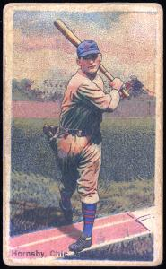 Picture of Helmar Brewing Baseball Card of Rogers HORNSBY (HOF), card number 133 from series Helmar Polar Night