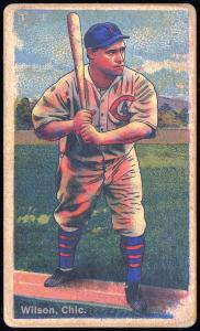 Picture of Helmar Brewing Baseball Card of Hack WILSON, card number 135 from series Helmar Polar Night
