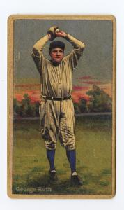 Picture of Helmar Brewing Baseball Card of Babe RUTH (HOF), card number 137 from series Helmar Polar Night