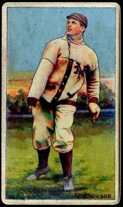 Picture of Helmar Brewing Baseball Card of Christy MATHEWSON (HOF), card number 218 from series Helmar Polar Night