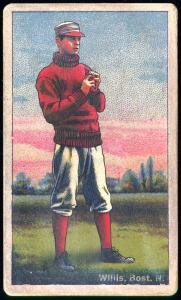 Picture of Helmar Brewing Baseball Card of Vic WILLIS (HOF), card number 237 from series Helmar Polar Night