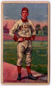 Picture of Helmar Brewing Baseball Card of Charles Comiskey (HOF), card number 35 from series Helmar Polar Night