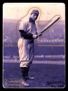 Picture, Helmar Brewing, R318-Helmar Card # 108, Fred CLARKE (HOF), Crouched with Bat, Pittsburg Pirates