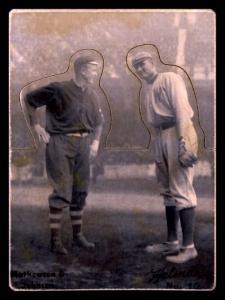 Picture of Helmar Brewing Baseball Card of Christy MATHEWSON (HOF), card number 10 from series R318-Helmar Hey-Batter!