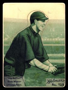 Picture of Helmar Brewing Baseball Card of Buck Weaver, card number 128 from series R318-Helmar Hey-Batter!