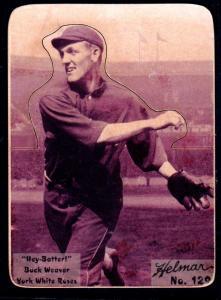 Picture of Helmar Brewing Baseball Card of Buck Weaver, card number 129 from series R318-Helmar Hey-Batter!