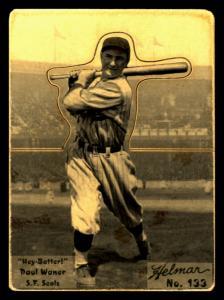 Picture of Helmar Brewing Baseball Card of Paul WANER (HOF), card number 133 from series R318-Helmar Hey-Batter!