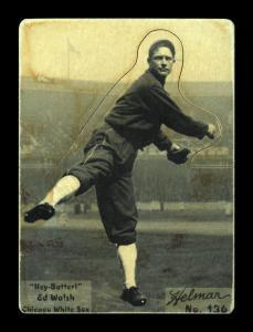 Picture of Helmar Brewing Baseball Card of Ed WALSH (HOF), card number 136 from series R318-Helmar Hey-Batter!