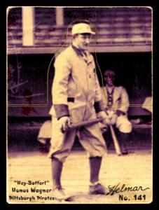 Picture of Helmar Brewing Baseball Card of Honus WAGNER (HOF), card number 141 from series R318-Helmar Hey-Batter!