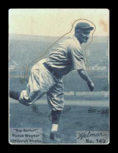 Picture of Helmar Brewing Baseball Card of Honus WAGNER (HOF), card number 143 from series R318-Helmar Hey-Batter!