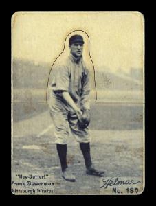 Picture of Helmar Brewing Baseball Card of Frank Bowerman, card number 189 from series R318-Helmar Hey-Batter!