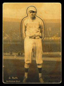 Picture of Helmar Brewing Baseball Card of Babe RUTH (HOF), card number 18 from series R318-Helmar Hey-Batter!