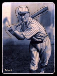 Picture of Helmar Brewing Baseball Card of Frank FRISCH (HOF), card number 19 from series R318-Helmar Hey-Batter!