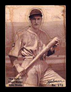 Picture of Helmar Brewing Baseball Card of Lloyd WANER (HOF), card number 212 from series R318-Helmar Hey-Batter!