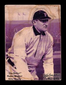 Picture of Helmar Brewing Baseball Card of Honus WAGNER (HOF), card number 215 from series R318-Helmar Hey-Batter!